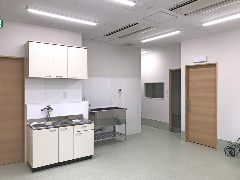 ゆとりある空間の動物病院
