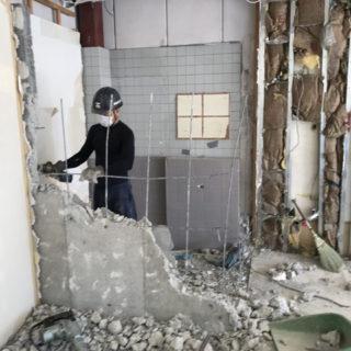 藤枝市で動物病院開院の内装工事を始めています